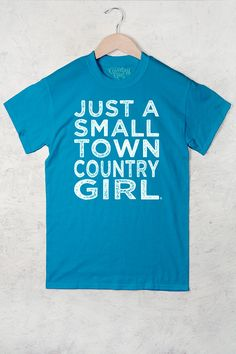 Women's Country Girl ® Small Town Longer Length Full Figure Tee - Country Fashion Clothing