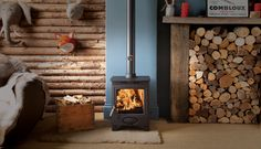 The Ecoburn Plus models have a wide glass giving a great view of the fire.  All models are fitted with a grate which on the standard Ecoburn Plus models can be adjusted for multifuel or wood.  www.Stovesonline.co.uk