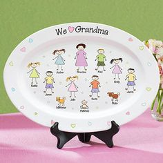 Personalized Tender Heart Platter @sunspotsdl this would be easy to paint if we can do the platters... mothers day???