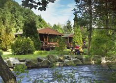 Image detail for -Choice of log cabins situated by the River Earn just outside the village. Includes details of the facilities, photo gallery and a price guide.