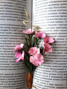 """Купить Мини-букет или брошь из фоамирана """"Нежность лета"""" - розовый, гвоздика…"""