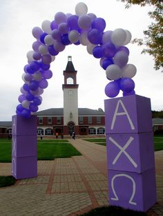 AXO Philanthrophy event decorations!