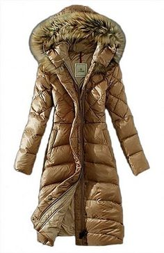 awesome Women's Lengthed Fur-Trimmed Hood Light Down Outwear Coat - For Sale