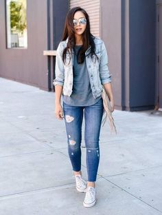 9 mejores imágenes de outfits con chamarra de mezclilla