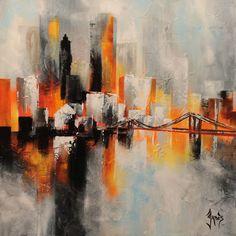 City Painting, Art Techniques, Art And Architecture, Art Decor, Contemporary Art, Street Art, Abstract Art, Art Gallery, Fine Art