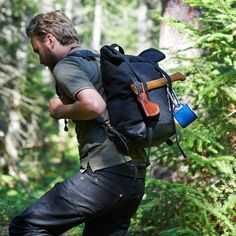 awesome Rugged Accessories and Bags by Mercy Supply: Leather and canvas products made in the heart of Michigan and built to last in all conditions Waxed Canvas, Canvas Leather, Bradley Mountain, Other Accessories, What I Wore, Sling Backpack, Mens Fashion, Style Fashion, Backpacks