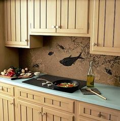 "colored concrete counter tops! love.  I'm not a fan of granite, it's so ""been there done that"""