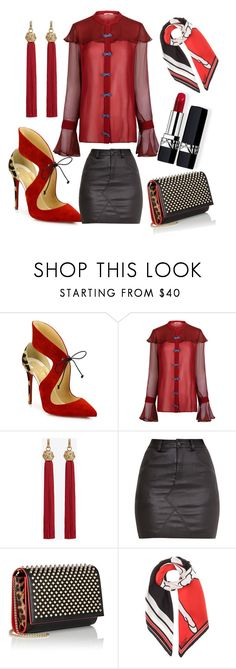 """3.8.17 women's day 🎈"" by sonthia on Polyvore featuring Christian Louboutin, Marco de Vincenzo, Yves Saint Laurent, Givenchy and Christian Dior"