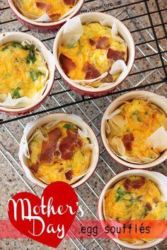 Mother's Day Brunch Idea - Egg Souffles!