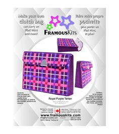 Framous Kits-Royal Purple Tartan Clutch Framous Plastic Canvas Kit