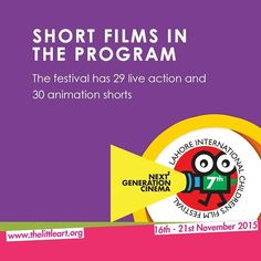 The Little Art in collaboration with Cinepax Cinemas and Alhamra present  7th Lahore International Children's Film Festival 2015 16-21 Nov 2015  Presenting 77 films from 26 countries Morning and Evening Shows  For Reservation & Details www.thelittleart.org | http://ift.tt/1q8qXk6  #TLAORG #Lahore #Children #Film #Festival #LICFF #danida #2k15 #art #education #NewGenerationCinema #socEnt #entertainment #instaphoto #instadaily #vsco #Pakistan #Youth #ArtsEd #CinepaxCinemas #cinemaforkids…