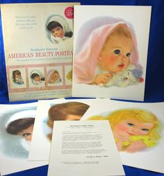 Northern Tissue American Beauties 4 1960's Frances Hook Girl Prints Ads Charmin #NorthernTissue