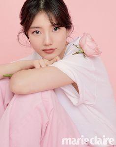 Suzy for Marie Claire Korea magazine March 2020 Issue. Girl Actors, Kdrama, Instyle Magazine, Cosmopolitan Magazine, Bae Suzy, Foto Pose, Japan Girl, Wedding Art, Korean Celebrities