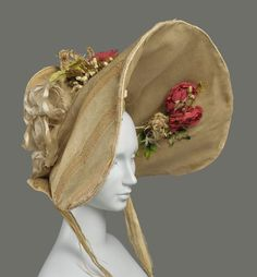 Romantic Period - Museum of Fine Arts Boston - Bonnet: ca. 1830, French.