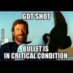 Got shot - bullet in critical condition