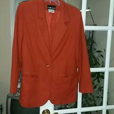 Blazer Burnt Orange Sag Harbor Wool Blazer Sag Harbor Jackets & Coats Blazers