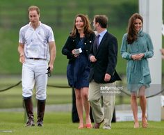 (EMBARGOED FOR PUBLICATION IN UK NEWSPAPERS UNTIL 48 HOURS AFTER CREATE DATE AND TIME) Prince William, Duke of Cambridge, Rebecca Deacon (the Cambridge's Deputy Private Secretary), Andrew Tucker (the Prince's Polo Manager) and Catherine, Duchess of Cambridge attend the Audi Polo Challenge charity polo match, in which Prince William, Duke of Cambridge and Prince Harry competed, at Coworth Park Polo Club on May 13, 2012 in Ascot, England. (Photo by Indigo/Getty Images)