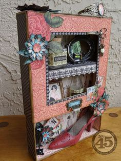Great Vintage themed shadow box