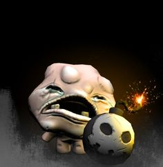 """Mulligan"" from the game ""The Binding of Isaac"", modeled in maya, sculpted in zbrush, painted in photoshop."