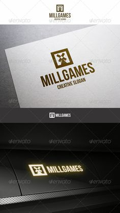 Mill Games Entertainment Logo  #GraphicRiver         Mill Games Entertainment Minimal Logo – This logo good for Gaming Entertainment, Entertainment Business, game developing company or online game websites and video game consoles sellers, design studio, creative business, photography business, media company and etc…  	 Simple, Unique and Professional logo template.  	 Included : AI, EPS_10, CDR. File is easy to editing.  	 Font used : Bebas-Neue :  .dafont /bebas-neue.font?fpp=50  	 View…