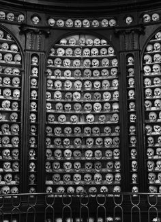 San Martino - The Ossuary Chapel of San Martino Della Battaglia in Italy is the most ordered of all the bone houses on this list. Row upon r...
