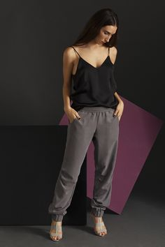 Check out my our super chic #Joggers >>> relaxed fit with an elastic waist, pockets and rubber ankle cuffs. This lounge pants will look great as a casual day look or elegant and effortless with heels for a cool evening look >>>