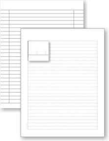 PRINTABLE notebook paper (donna young).  Some with fun themes.