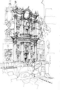 Chiesa di San Carlino alle Quatro Fontane - Via del Quirinales - Roma