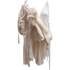 Preowned Meadham Kirchoff Cream Silk Parachute Runway Dress S/s 10 (780 AUD) ❤ liked on Polyvore featuring dresses, white, white colour dress, summer day dresses, silk summer dresses, cream silk dress and preowned dresses