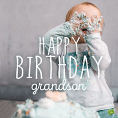 Birthday image for baby grandson.