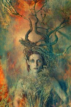 """The Burning Bush"" series. Photographer: Brian DeMint (Eyeworks Photography); Model: Jeniffer Roberts; Stylist: Dena DeMint. (© 2010)"