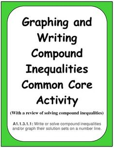 compound inequality definition math dictionary