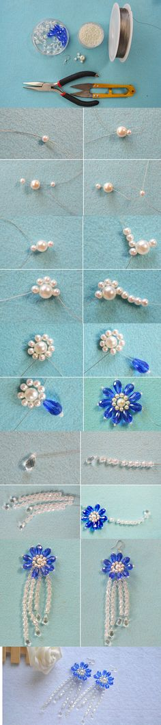 Tutorial on How to Make a Pair of Handmade Beaded Flower Earrings with Beads from LC.Pandahall.com