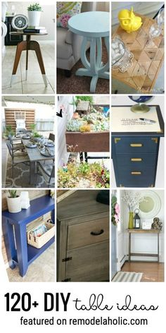 120+ DIY Table ideas featured on remodelaholic.com