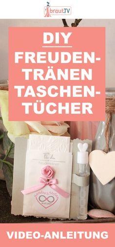 DIY Anleitung für tolle Freudentränen Taschentücher bei braut.TV