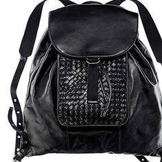 The beauty of a #bottegaveneta backpack.