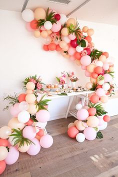 Completely obsessed with this installation // pink balloon installation | Wedding & Party Ideas | 100 Layer Cake (Tutorial via http://thehousethatlarsbuilt.com/2014/07/balloon-arch-tutorial.html/)