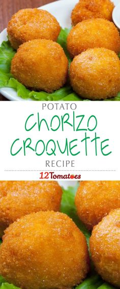 Chorizo And Potato Croquettes Croquettes Recipe, Potato Croquettes, Chorizo Recipes, Mexican Food Recipes, Enchiladas, Chorizo And Potato, Appetisers, Appetizer Recipes, Yummy Appetizers