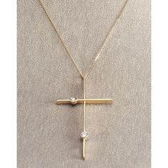 Lana Cross Necklace with Diamonds (9 915 SEK) ❤ liked on Polyvore featuring jewelry, necklaces, diamond necklace, cross necklace, cross jewelry, chains jewelry and cross pendant necklace