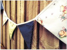 Winnie the Pooh Fabric Bunting by BellbirdsBoutique on Etsy, $23.20
