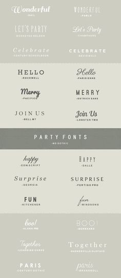 25 Free Fonts to Use for Parties