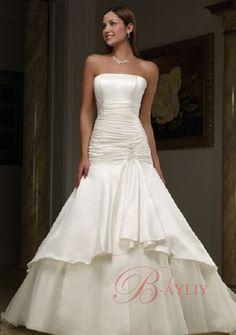 Vera Wang Mermaid Wedding Dresses   Brocade Wedding Dresses Vera Wang Mermaid Strapless Satin Catheral ...
