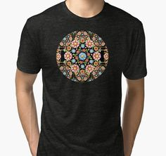 Millefiori Rosette Tri Blend T by #PatriciaSheaArt @redbubble - Thank you Buyer!