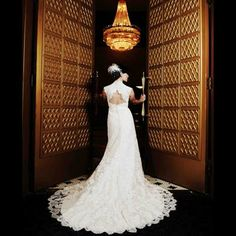 The beautiful bride at The Roosevelt New Orleans, A Waldorf Astoria Hotel.