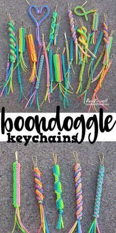 How to make boondoggle, scoubidou, Craftlace, gimp, lanyard, scoubi, scoobie, color wraps, neckspressions, or rex-lace, plastic lace, lanyard, summer crafts, summer camp, how to make, how to finish off boondoggle keychains craft.