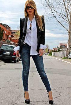 Suit And Tie.  #Blazers #Graphic #Jeans #Heels & Wedges