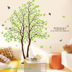 *** Tree Wall Decal Wall Stickers Tree Decals Wall by LemonTreeDecal- Etsy, 39.78