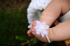 Baby barefoot sandals, baptism gift, christening gift, baby shower gift, baby girl gift, barefoot baby, photo prop on Etsy, $17.95