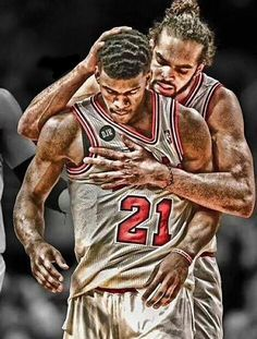 The heart and soul of the Chicago Bulls - Jimmy Butler and Joakim Noah.