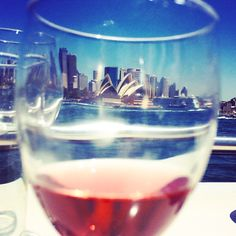 Tulloch Wines 2014 Cellar Door Release Rose while cruising Sydney Harbour